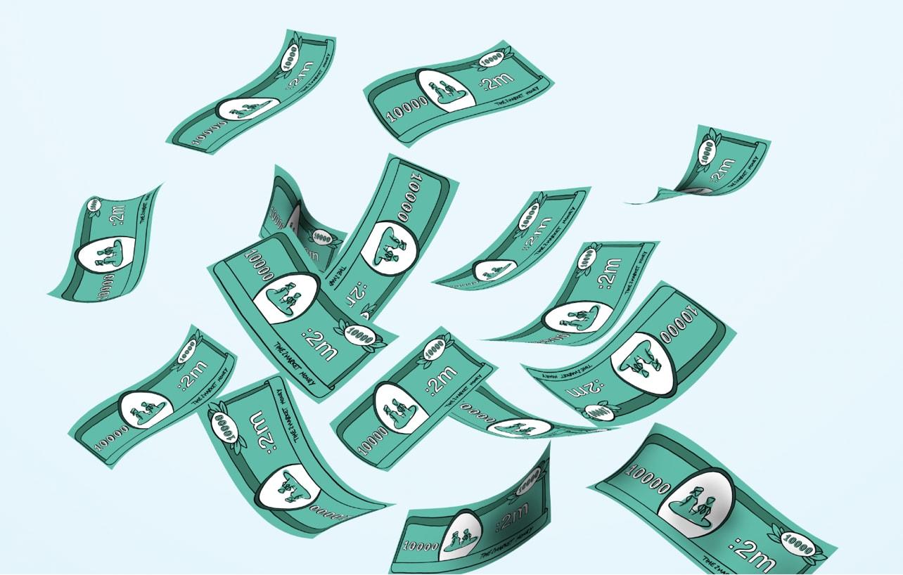 Spielgeld aus der Praxisübung Buy a Feature
